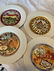 Restoration Hardware Classic Cheese Plates Assorted Set Of 4 -71/2 Inches
