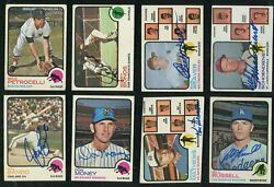 1973 Topps Baseball Lot Of 70 Differents All Signed Autographed Hof Deceased