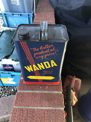 Vintage Wanda Cato Oil And Grease Co One Gallon Metal Oil Can - Oklahoma City Ok