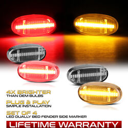 Clear Lens Amber Red Led Fender Side Marker Lamp For 11-21 F250 F350 F450 Dually