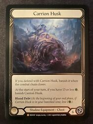 Nm Cold Foil Legendary Carrion Husk Mon187 1st Edition Flesh And Blood Tcg
