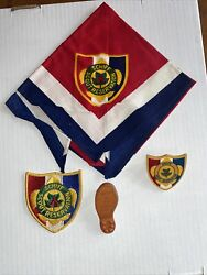 Vintage Schiff Scout Reservation Lot Of Old Items Bsa Neckerchief Slides Patch