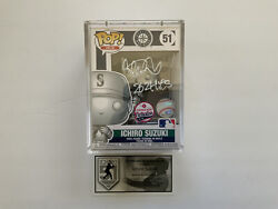 Silver Ichiro Autographed Funko Pop Figure With Coa 51 Pieces Made Coa Mariners