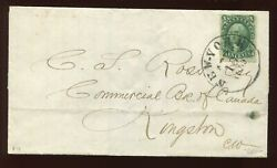 34 Washington Used Stamp On Cover Ny To Kingston Canada With Pf Cert 39 Pf A1