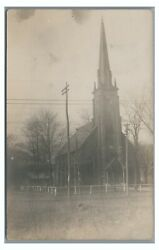 Rppc Presbyterian Church At Wyoming Pa Luzerne County Real Photo Postcard