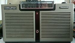 Panasonic Spacer Fm-am Radio Stereo 8 Track Player Rf-7100 Parts Or Repair