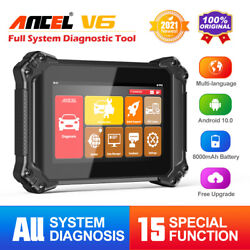 Ancel V6 Obd2 Car Diagnostic Scanner Full System Immo Key Coding Tpms Dpf Reset