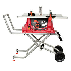 V0 1800w Foldable Stand Bench Table Saw 220v 10 Blade Woodworking Moving Wheel