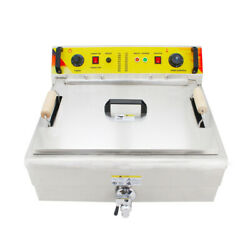 V0 Commercial Stainless Steel Electric Deep Fryer Single Tank Countertop 110v