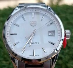 Tag Heuer Ladies Carrera New / Unworn/ 2 Yr Warranty Mother Of Pearl Rrp Andpound1750