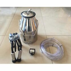 V0 Portable Farm Cow Milking Milker Machine Bucket Tank Container Barrel Set