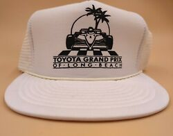 Vintage Toyota Grand Prix Long Beach Snapback Trucker Hat Formula 1 Racing White