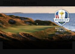 2 2021 Ryder Cup Sunday Grounds Golf Ticket Passeswhistling Straits 9/26