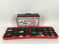 Vintage Matchbox Lesney Products Carry Case And Lot Of 49 Cars