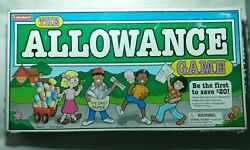 Vintage 1984 The Allowance Board Game By Lakeshore Incomplete