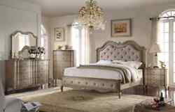 Acme Furniture Chelmsford 6 Piece Bedroom In Antique Taupe