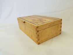 Figured Maple Jewlery/valet Box W/spalted Maple Top Panel
