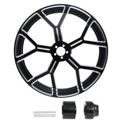 18/21/23/26/30and039and039 Cnc Wheel Rim Wheel Disc Hub Fit For Harley Touring Fl 2008-up