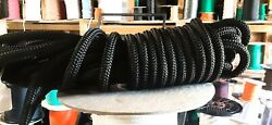 1/2 X 50 Ft. Double Braid-yacht Braid Polyester Rope. Black. Us Made