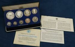 1978 Jamaica 9 Coin Proof Set - Free Shipping Usa