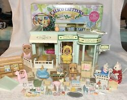 Rare Calico Critters Sylvanian Families Country Market, 80+ Accessories And Box