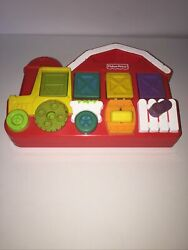Vintage 1993 Fisher Price Barn Farm Animals Tractor Pop Up Baby Toy Works Great