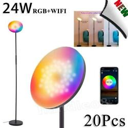 20x 24w Smart Led Floor Lamp Dimmable Rgb Standing Lamp Smart Wifi/voice Control