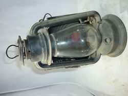 Gem Cold Blast Side Lamp Ct Ham Mfg Co Lantern With A Clear Globe And Reflector