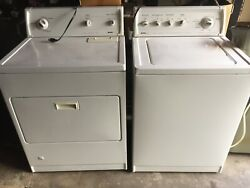 Kenmore 80 Series Washer And Kenmore 70 Series Gas Dryer. Both Are White.