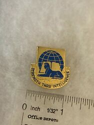 Authentic Us Army 519th Military Intelligence Dui Di Unit Crest Insignia D-22