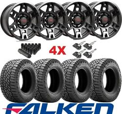 Trd Black Wheels Rims Tires 265 70 17 Falken Wildpeak At3w Package 75167
