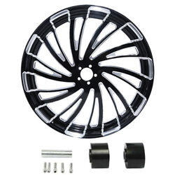 18/21/23/26/30and039and039 Cnc Wheel Rim Wheel Disc Hub Fit For Harley Touring 2008-up Us