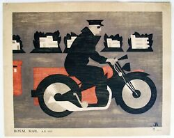 Antique British Post Office Poster-1935- John Armstrong