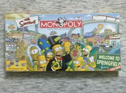 Monopoly The Simpsons Welcome To Springfield Board Game Sealed New In Box Mint
