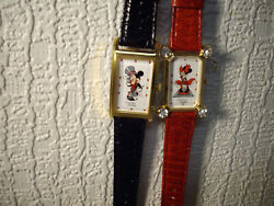 New Mickey Mouse Pedre Watch Set [fred Astaire]+ Minnie Mouse [marilyn Monr0e]