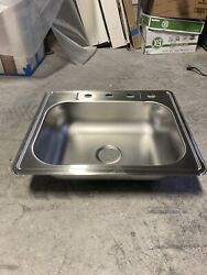 Stainless Steel Sink Kitchen Shop Bathroom Drop In 3 Hole Farmhouse
