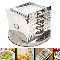 4layer Rice Noodle Roll Food Steamer Steaming Machine Stainless Steel Extra Tray