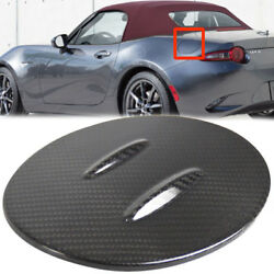 For Mazda Mx-5 Miata Nd 4th Real Carbon Outside Fuel Cap Fin Cover Convertible