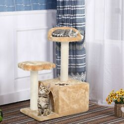 ❤cat Tower Kittens Pet Play House Cat Activity Tree Condo Scratching Sisal Post