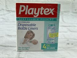 Vtg 100 Playtex 4oz Disposable Baby Bottle Liners Bags Pre-sterilized Grip Tabs