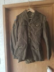 Ww2 Army Air Corps China Burma India 10th Air Force Uniform Jacket. Dated 1943.