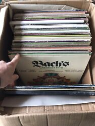 Lot Of 113 Records- Bach- Dowland- Scott Joplin- Old Antique-classical Records