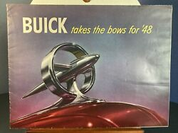 Vintage Auto Brochure. Rare 1948 Buick Takes The Bows Dealer Broch Usa Br101 Pc