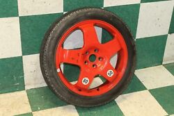06-12 Continental Red Compact Spare Tire Donut Wheel 19 Alloy Rim Temporary Oem