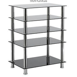Media Stand Entertainment Center For Tv Audio Video Components5 Tiers