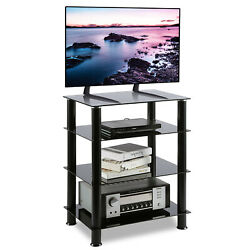 Media Stand Entertainment Center For Tv Audio Video Components4 Tiers