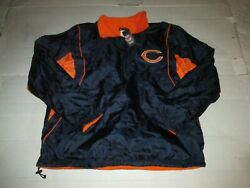 Chicago Bears Nfl Official Apparel Fleece Lined Coat Size Xl Football New Nwt