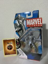 Marvel Universe 003 Silver Surfer 4in Action Figure Hasbro 2009 Lot