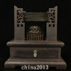 Chinese Qing Dynasty Palace Temple 1 Set Nephrite Hetian Jade Seal Statue W/box