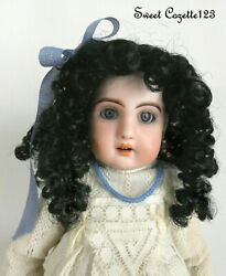 Doll Wig New Old Store Stock Size 7-8 Black For Antique Dolls Jumeau Steiner Bru